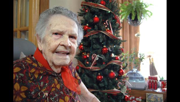 """""""You see a lot in 100 years,"""" says Mary Geisler, the matriarch of Cedar Twp. Well-read and still well-spoken, Geisler is now living in the '20s for the second time. ANDREW McGINN 