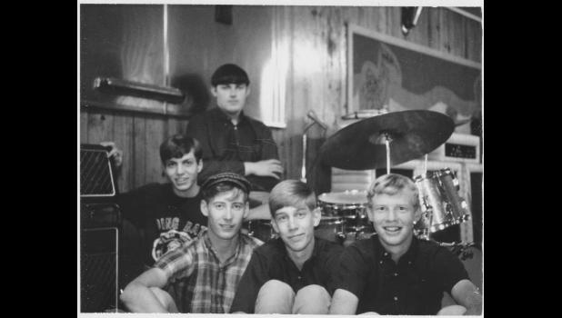 Elm Street Grocery, Mk. 1: Rick Arbuckle (from left), Hank Davis, Jim Heath, Scott Sutherland and Steve Hance. The band will be inducted into the Iowa Rock 'n' Roll Hall of Fame whenever the pandemic allows.
