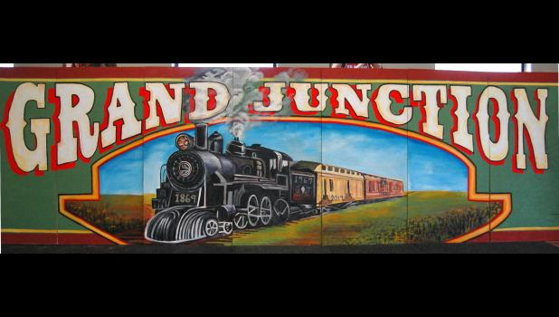 Apologies to the artists: The entire mural students have painted for Main Street in Grand Junction wouldn't fit in the picture.