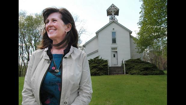 """""""It needs to become part of the community again,"""" Peg Semke says of Pleasant Hill Church, built in 1881 near Squirrel Hollow Park. Pleasant Hill will get a new lease on life May 27-28 when Pleasant Hill Memorial Inc. and the Greene County Historical Society partner to host plein air artists and a service Memorial Day weekend. The churchyard will be open to picnickers. ANDREW McGINN 