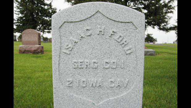 After being in an unmarked grave for more than a century, Isaac Ford's new headstone is ready for dedication.