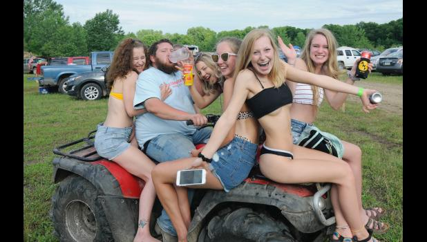 """Ain't no party like a River Farm party: Craig Flack's River Farm Recreation west of Jefferson has survived long enough to host another Summer Bash on Saturday, little more than a month after the last one ended with several arrests. Flack has accused Greene County Sheriff Jack Williams, a critic of the site, of """"using me as a pawn for his agenda."""" PHOTOS COURTESY OF DAVID AUSBERGER"""