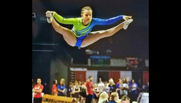 Born in Germany and growing up in Jefferson, Sandra Dawson has developed a passion for competitive trampolining.