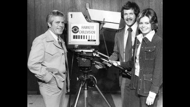 """In the beginning, there was no AMC. No """"Game of Thrones."""" A young Terry Rich (center) found his calling anyway in the mid-1970s, extending the reach of cable TV with mentor and Iowa State Fair legend Bill Riley (left)."""