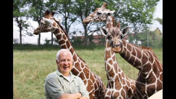 """In a five-year run as """"CEO/Zoo Dude"""" at the Blank Park Zoo in Des Moines beginning in 2003, Cooper native Terry Rich turned a run-down city zoo into a statewide attraction."""