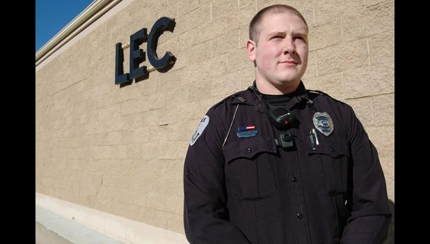 Crouching tiger, hidden speeding ticket: Officer Cody Smith has been keeping the streets of Jefferson safe since his hire in October by the local police department. No one on the force knew until just days ago that Smith had been a national taekwondo champion in college. ANDREW McGINN | JEFFERSON HERALD