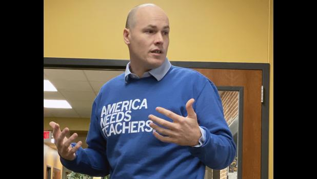 "Democratic congressional candidate J.D. Scholten is traveling the 4th District, hitting cities under 1,000 as part of a ""Don't Forget About Us"" tour."