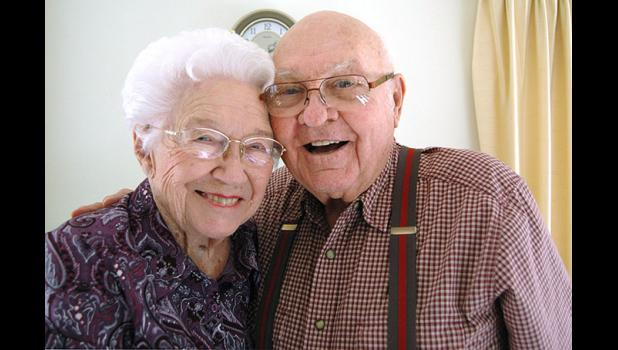 """Bob and Madeline Burnell celebrated 72 years of marriage last week. When asked if their marriage has ever hit any rough patches over the course of more than seven decades, Bob quipped, """"Nothing we can't holler out."""" ANDREW McGINN 