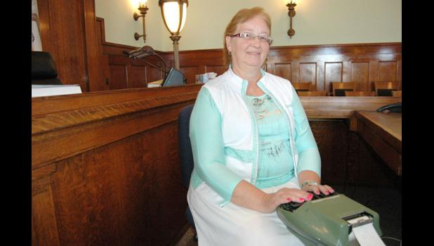 Nancy Timmons, of Grand Junction, is among the longest-serving court reporters in Iowa. She's used the same stenotype machine for more than 40 years.
