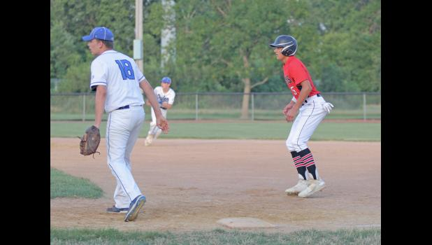 Greene County's Bryce Stalder was named to the Heart of Iowa second team after finishing sixth in the league with a .435 batting average.  BRANDON HURLEY   JEFFERSON HERALD