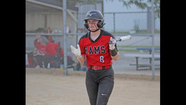 Greene County's Emma Stream led the team in batting with a .333 average and 21 hits, which earned her second team, all-HOIC honors. BRANDON HURLEY | JEFFERSON HERALD