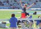 Greene County's Bryce Stalder placed eighth in the Drake Relays long jump April 22 with a top leap of 21-4.25 in Des Moines.  BRANDON HURLEY | JEFFERSON HERALD