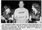 Gilbert Christianson (Middle), Churdan girls' basketball coach from 1949-1951, is pictured here in the March 2, 1949 issue of the Des Moines Tribune. He led the team to two state tournaments tallying 67 wins. He's pictured with Beatrice McDonald (left) and Alice Webber (right).