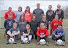 The Greene County girls' soccer team opens the 2021 slate with a new head coach, former ISU placekicker, Peyton Paddock (back middle). The Monticello High School graduate will lead a young program coming off a three win season in 2019.  BRANDON HURLEY   JEFFERSON HERALD